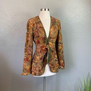 Dorothy Schoelen Tie front blazer
